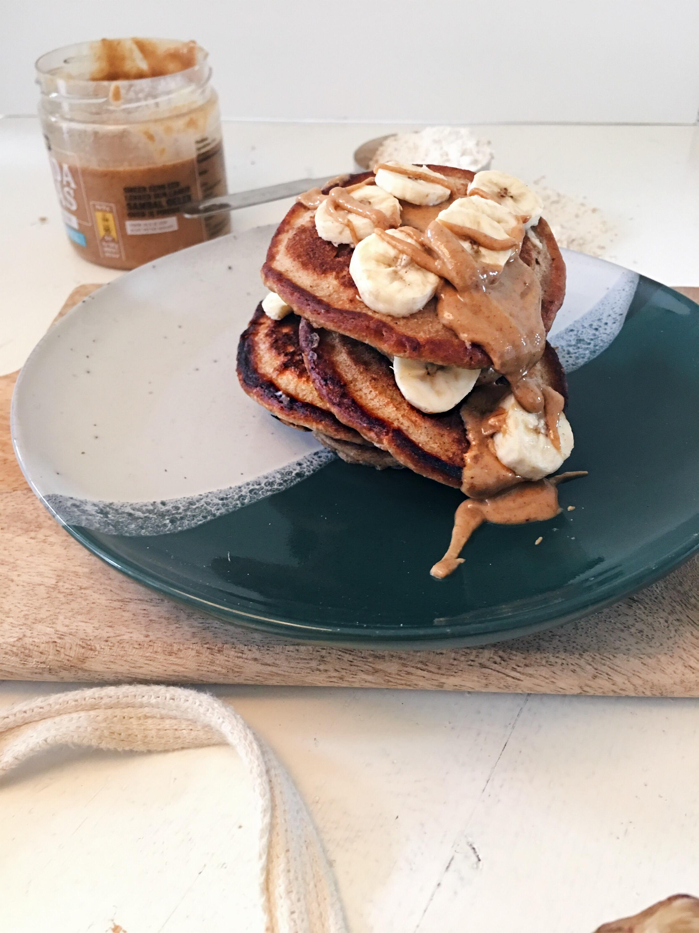 banaan-pindakaas-pancakes