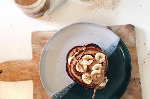 banaan-pindakaas-pancakes-uitpaulineskeuken